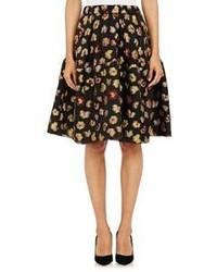 Co Floral Jacquard Skirt Black