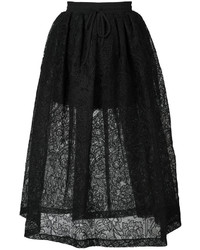 Vera Wang Full Floral Lace Skirt