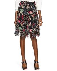 Lauren Ralph Lauren Petites Floral Print Godet Skirt