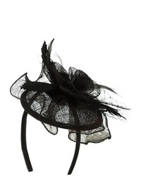 Jeanne Simmons Round Rose Headband Fascinator Black W01s34a