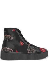 MM6 MAISON MARGIELA Floral Jacquard High Top Sneakers Black