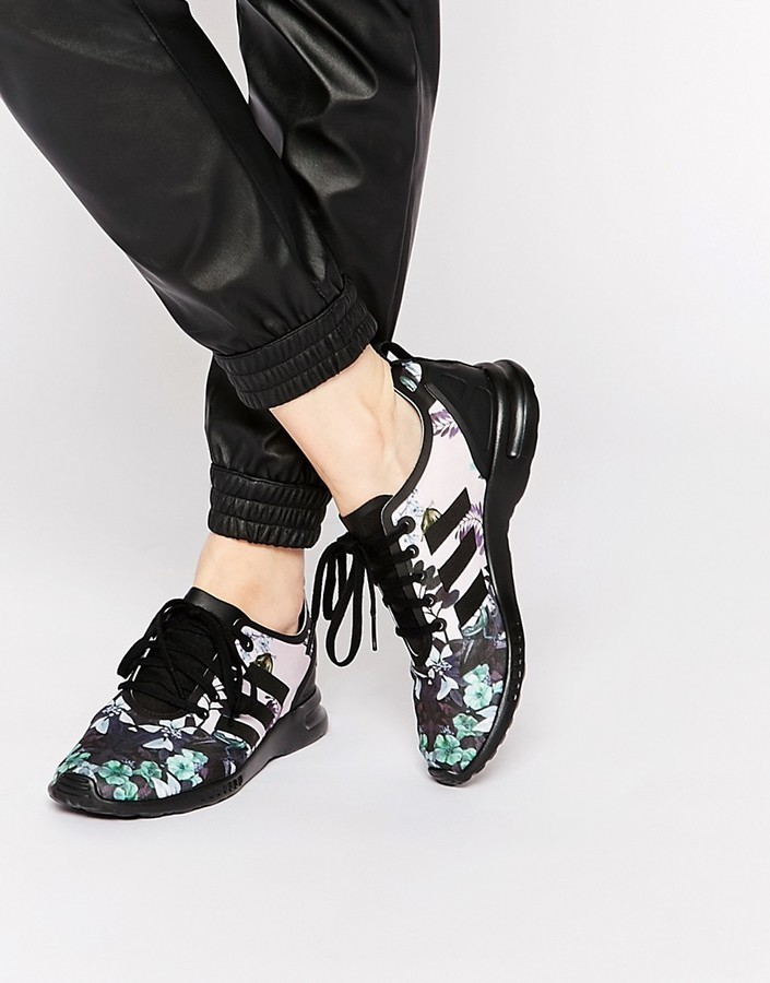 best website 41d74 d2736 $90, adidas Originals Botanical Floral Zx Flux Sneakers