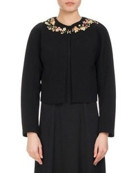 Altuzarra Brett Floral Embroidered Jacket Black