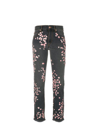 Isabel Marant Holan Flower Embroidered Jeans