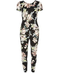Dorothy Perkins Jolie Moi Black Floral Print Jumpsuit