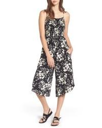 Mimi chica smocked floral jumpsuit medium 4951084