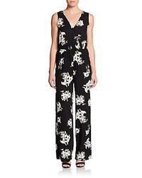 Varana wide leg floral print jumpsuit medium 285110