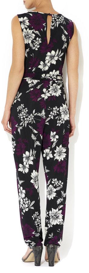 cd7037d10d70 Wallis Purple Floral Print Jumpsuit