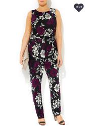 13c516883830 ... Wallis Purple Floral Print Jumpsuit