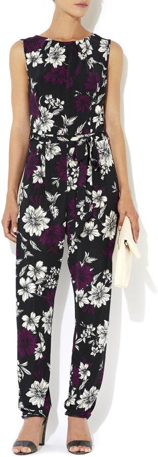 ad5c6667e246 ... Wallis Purple Floral Print Jumpsuit ...