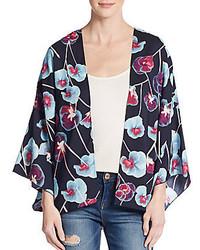 1 STATE Floral Print Kimono Jacket