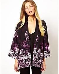 Asos Kimono In Floral Print