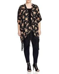 Bb Dakota Plus Margarida Floral Print Kimono