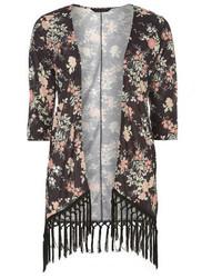 Dorothy Perkins Oriental Floral Tassle Kimono