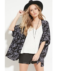 Forever 21 Floral Open Front Kimono