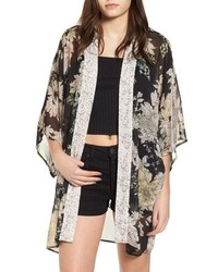 Band of Gypsies Floral Print Kimono