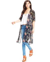 Say What Juniors Floral Print Kimono