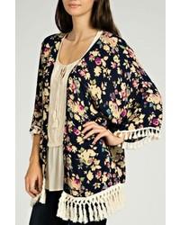 Kori America Floral Fringe Kimono