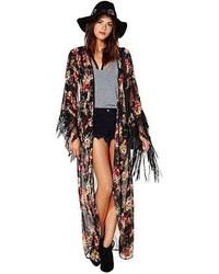Nasty Gal Reverse Peek A Boo Kimono