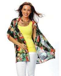 Patchington Floral Print Kimono Jacket