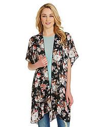 RD Style Floral Print Kimono Cardigan
