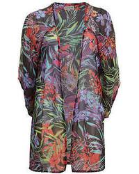 Alice & You Sun Black Floral Sheer Kimono