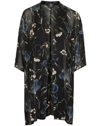 Topshop Cloudy Floral Print Kimono