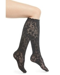 Wolford Camelia Lace Knee High Socks