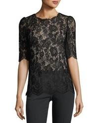 Dolce & Gabbana Floral Lace Top