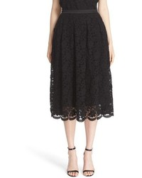 St. John Collection Floral Lace Skirt