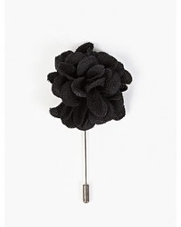Lanvin Black Rose Tie Pin