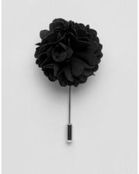 Noose Monkey Noose Monkey Flower Lapel Pin In Black