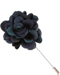 Lanvin Plaid Rose Lapel Pin