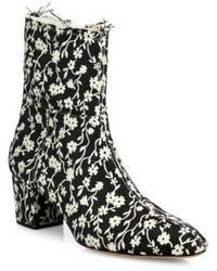 Altuzarra Callie Floral Block Heel Ankle Booties