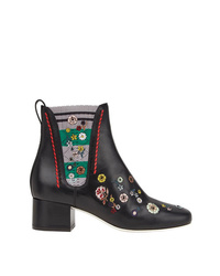 Fendi Embroidered Boots