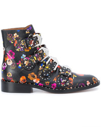 Floral print ankle boots medium 4345432