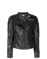 Marc Cain Embroidered Biker Jacket