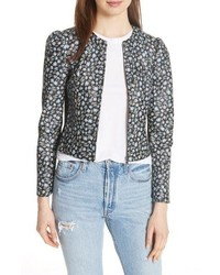Rebecca Taylor Zelma Floral Leather Jacket
