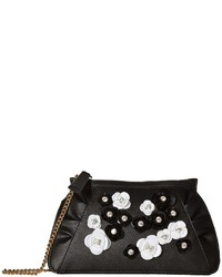 Moschino Boutique Embellished Floral Clutch With Chain Clutch Handbags