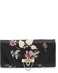 Garavani demilune embroidered chain clutch bag medium 4731187