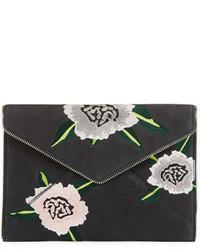 Rebecca Minkoff Leo Floral Embroidered Envelope Clutch Bag