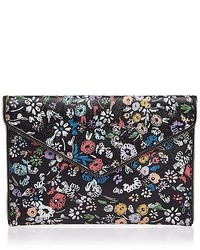 Rebecca Minkoff Leo Floral Saffiano Leather Clutch