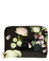 Ted Baker London Mayycie Kensington Floral Leather Mini Purse Black