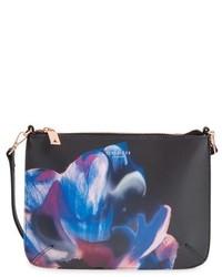 Ted Baker London Cosmic Bloom Floral Print Leather Crossbody Bag