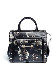 Nobrand Daphne 2 Floral Print Leather Crossbody Tote