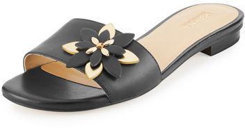 e2b6d533e9b ... MICHAEL Michael Kors Michl Michl Kors Heidi Floral Flat Slide Sandal ...