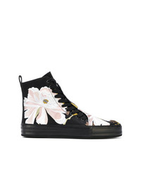 Ann Demeulemeester Floral Embroidered Hi Top Sneakers