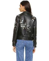 Sandy Liang Floral Delancey Leather Jacket