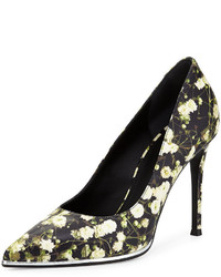 Givenchy Floral Print Leather Pump Babys Breath