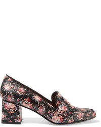 Tabitha Simmons Margot Floral Print Leather Pumps Black